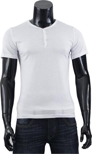 Pánské tričko s knoflíky Glo Story - bílé