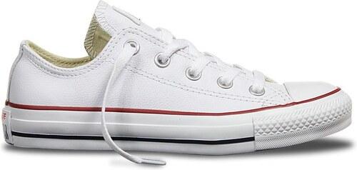 Nízké kožené boty Converse CHUCK TAYLOR ALL STAR Leather White ... 67d10ca2f5