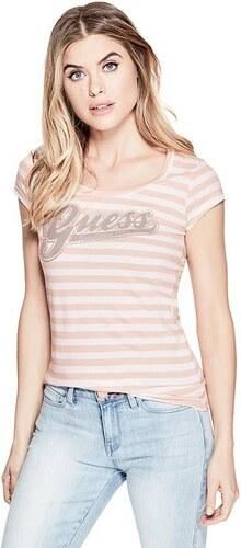 GUESS tričko Script Logo Tee pink 8fa89a795b8