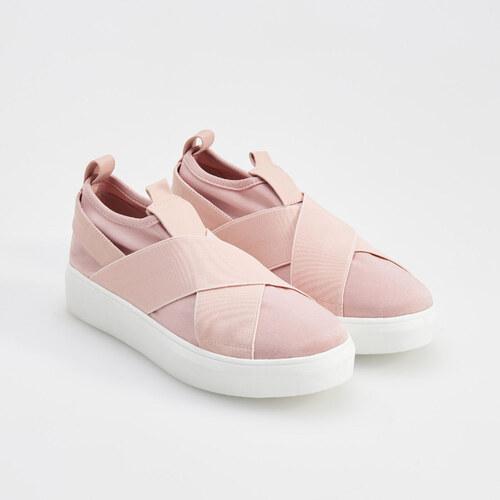 Reserved - Púdrovo ružové slip on topánky - Ružová - Glami.sk 193267bdf0a