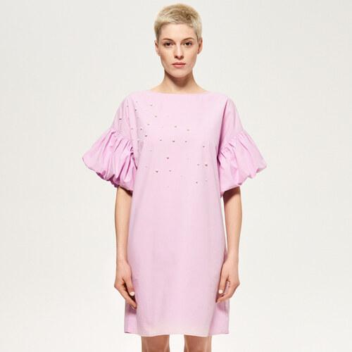 baaf6e43d207 Reserved - Šaty s naberanými rukávmi - Ružová - Glami.sk
