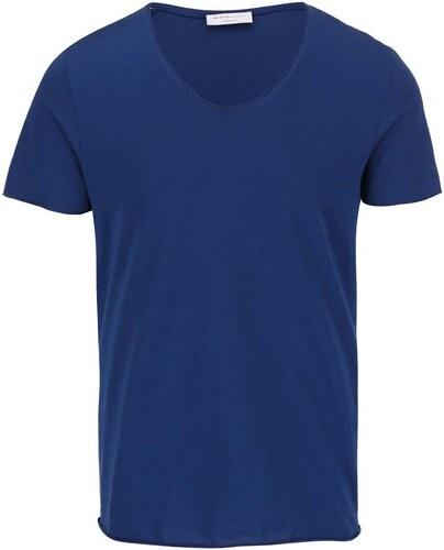 5512d1fe440f Modré tričko Selected Homme Merce - Glami.cz