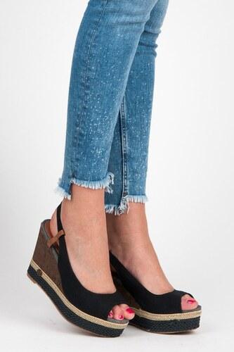 63215a781c1c Pohodlné sandále na korkovom klíne HHS015A-2B - Glami.sk