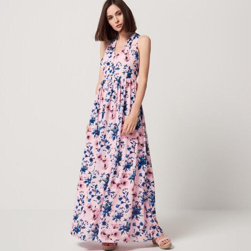 054e623357a6 Mohito - Dlhé šifónové kvetované šaty - Ružová - Glami.sk