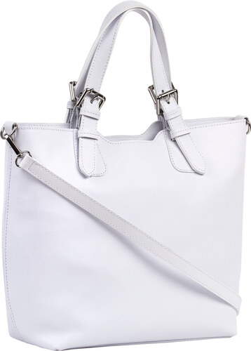 5a58f2d484 Brastini La Valentina kožená kabelka do ruky biela - Glami.sk