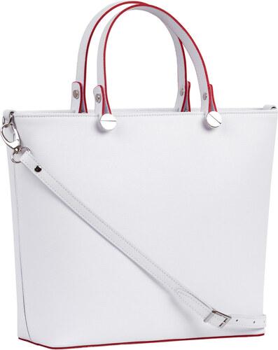 5a774a5cc8 Brastini La Giulia kožená kabelka do ruky biela - Glami.sk