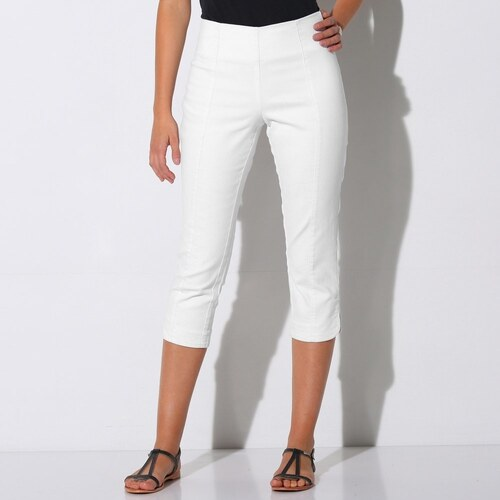 f302e52ec7f9 Blancheporte 3 4 ultra strečové nohavice biela - Glami.sk