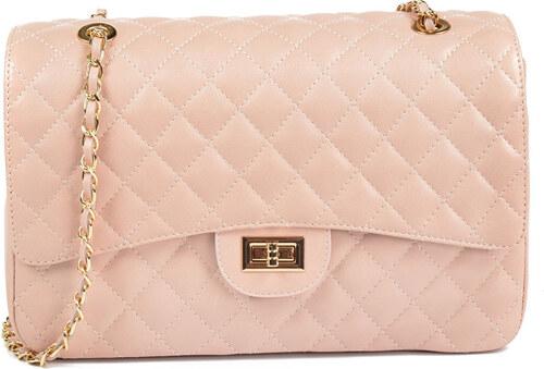 d638261a87 Carla Ferreri Elegantná kožená kabelka 2063 Rosa - ZĽAVA - Glami.sk