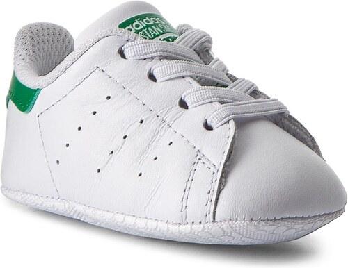3afff7312f05 Topánky adidas - Stan Smith Crib B24101 Ftwwht Ftwwht Green - Glami.sk