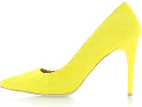 4777530f77 Olivia Shoes Žlté kožené lodičky Glory - Glami.sk