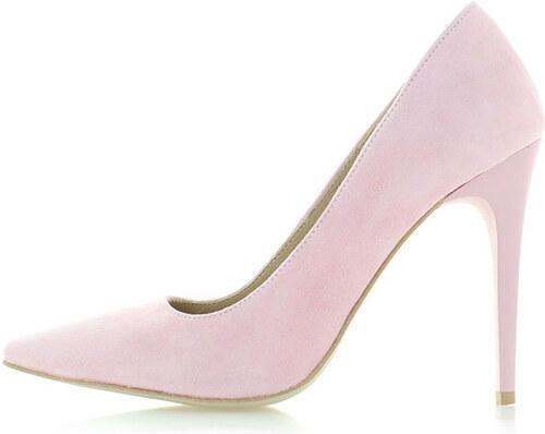 c85fd9f68a71c Olivia Shoes Světle růžové kožené lodičky Marilyn - Glami.cz
