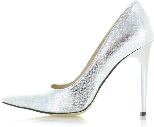 Olivia Shoes Stříbrné kožené lodičky Marilyn - Glami.cz a16a6c50bf