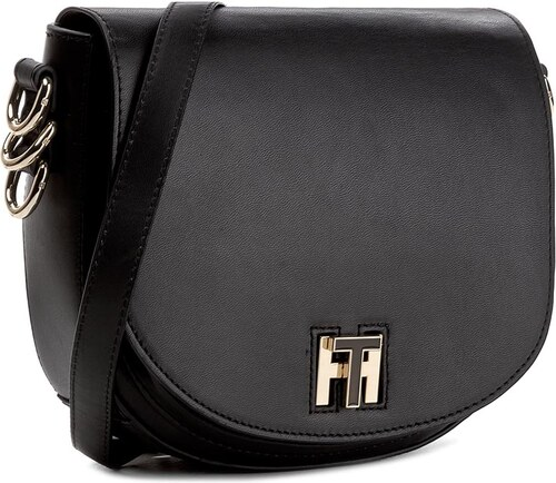 Kabelka TOMMY HILFIGER - Th Twist Leather Medium Crossover AW0AW03653 002 0458ca3a751