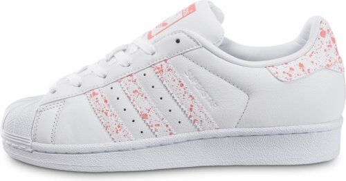 adidas Baskets/Tennis Superstar Speckle Blanche Et Rose Femme