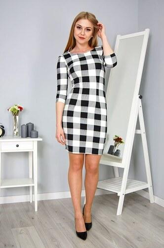 Kockované šaty s 3 4 rukávom - Glami.sk c2b0c76f81b