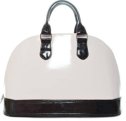 Bielo-čierna lesklá nádherná kabelka S24 GROSSO - Glami.sk 515bdbb63d2