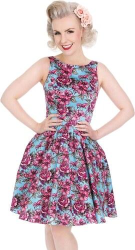 889a320c5d78 Dámské retro šaty Lady Vintage Tea Kreslené růže - Glami.cz