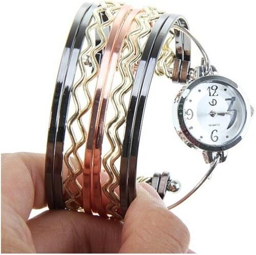 HGM Elegantní náramkové hodinky kovové dámské - Glami.cz b8690f2c8f