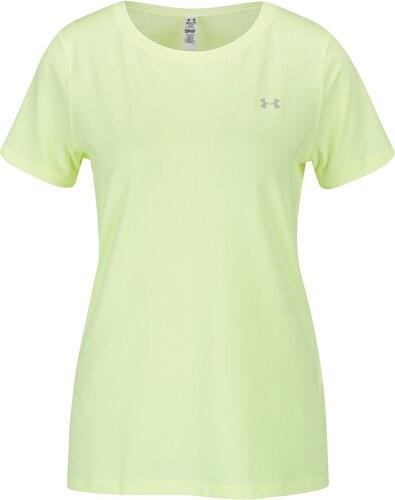 Žlté dámske funkčné tričko s krátkym rukávom Under Armour HG Armour ... 7a6471152f8