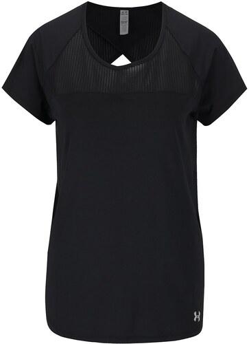 Čierne dámske funkčné tričko s výstrihom na chrbte Under Armour Fly ... f286425a43d