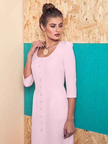8440d43223 Ružové elegantné šaty s gombíkmi - GR1534 odtiene farieb  ružová ...