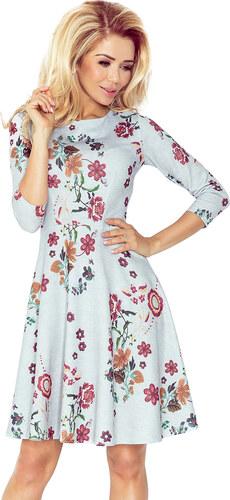 d13e00156c Catwalker Nyári ruha, női - szürke-virágmintás - NO 49-19 - Glami.hu
