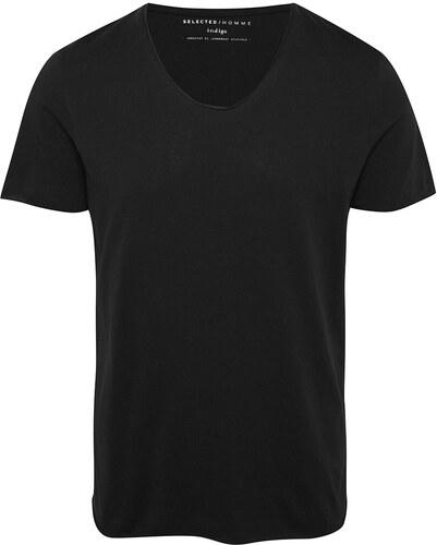 bb1a035ef9c Černé tričko s krátkým rukávem Selected Homme Newmerce - Glami.cz
