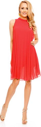 Společenské šifonové šaty - sytě růžové - Glami.cz af4880e050