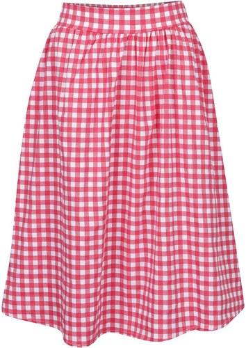 Krémovo-červená kostkovaná sukně ZOOT - Glami.cz 9939bf5b74