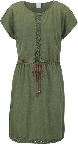 929cb25444ac Zelené šaty s čipkovanými detailmi a opaskom VERO MODA Spirit - Glami.sk