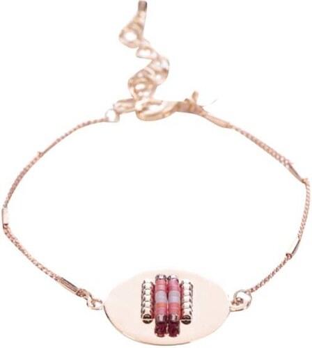 563ee794e Náramek ve růžovozlaté barvě s fialovými korálky Mariesy - Glami.cz