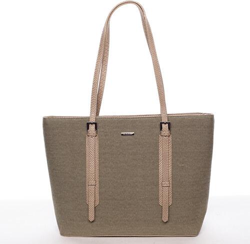 Módní dámská kabelka přes rameno khaki - David Jones TimSeh Khaki ... aef30162540