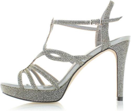 7bab81d33c2f Moow Strieborné sandále Grace - Glami.sk