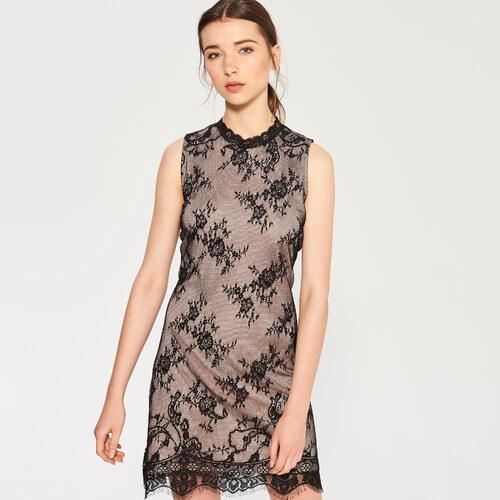 Sinsay - Čipkované šaty - Čierna - Glami.sk 01f2a91fa94