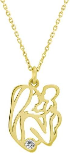 cfad670ba Eppi Zlatý náhrdelník matka a dieťa s diamantom Aglen - Glami.sk