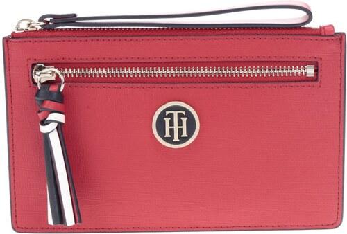 Červená listová kabelka peňaženka Tommy Hilfiger - Glami.sk 521a07f9d78