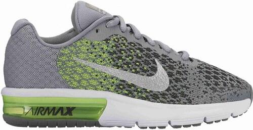 Dětské Tenisky Nike AIR MAX SEQUENT 2 (GS) STEALTH METALLIC SILVER-ELECTR 28ffea7b28f
