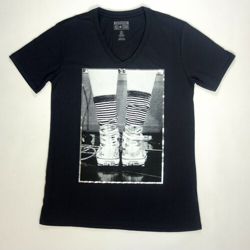 converse PHOTO CHUCK VNECK BF TEE Dámske tričko 14064C-032 - Glami.sk d0b85c67c7d