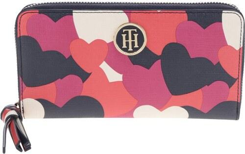 37787e4cd6 Modro-červená dámska peňaženka s motívom sŕdc Tommy Hilfiger - Glami.sk
