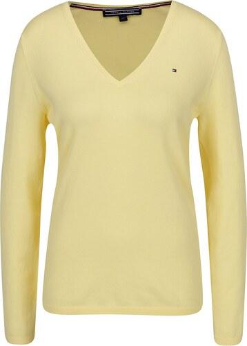 Žlutý dámský lehký svetr Tommy Hilfiger - Glami.cz ad3e344a25