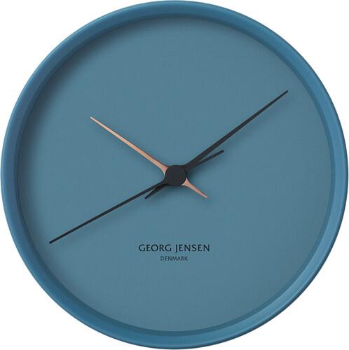 44a4f254d Nástěnné hodiny Georg Jensen Koppel velké | modré - Glami.cz