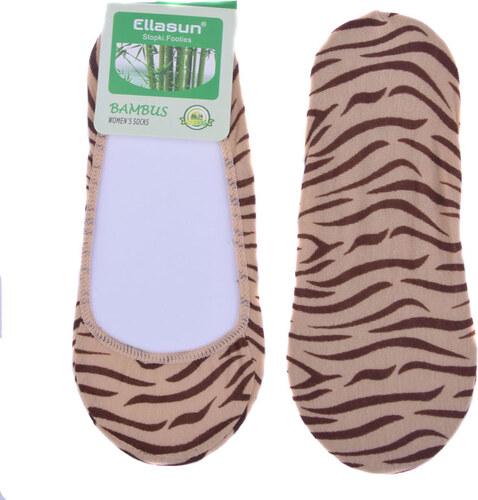 Ellasun Bambusové ponožky do balerín tygrované - béžová Béžová 35-38 ... c700aa9853