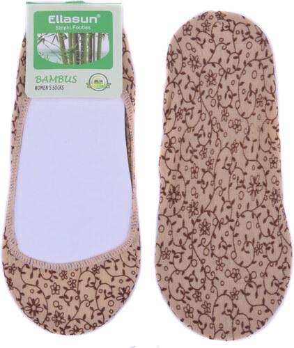 Ellasun Bambusové ponožky do balerín s květy - béžová Béžová 35-38 ... 76cc7f1c4e