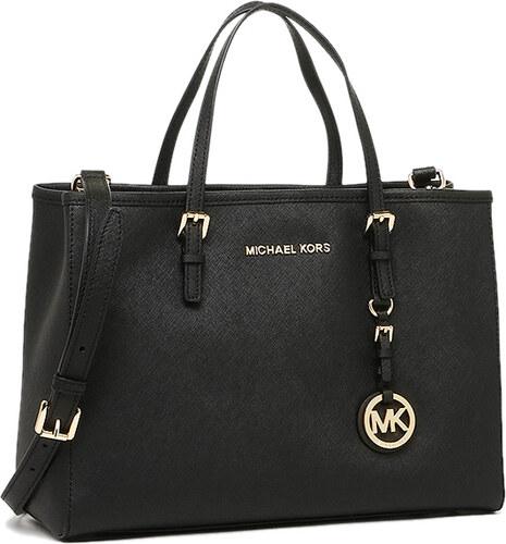 Michael Kors Jet Set Travel kožená kabelka cez rameno čierna - Glami.sk 873db09e6ae