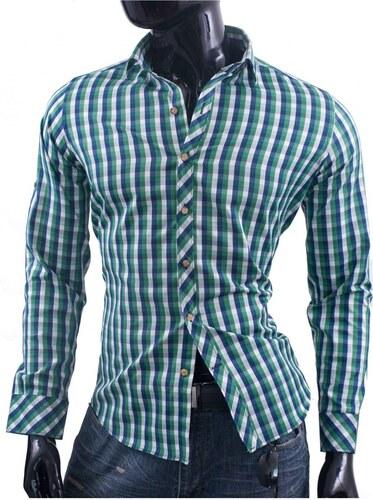 StoneWear Moderní zelená károvaná košile pro muže - Glami.cz 15c84d7ce4