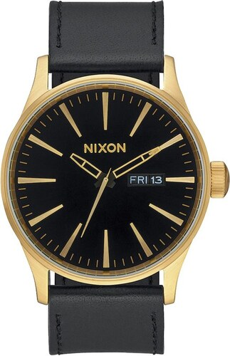 hodinky NIXON - Sentry Leather Goldblack (513) - Glami.sk 8fdfc73e983