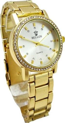 bd50a30aaa3 Dámské zlaté hodinky Bellos Elegants 150D - Glami.cz