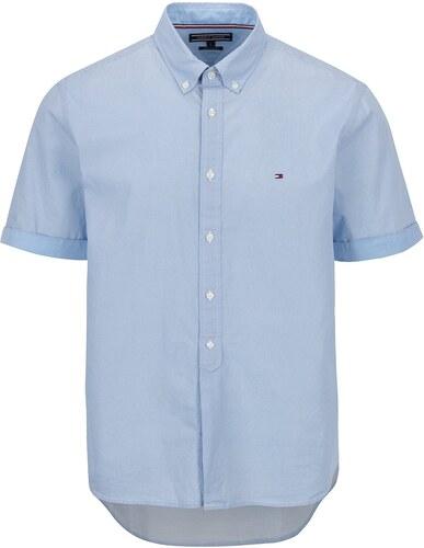 Svetlomodrá pánska vzorovaná košeľa s krátkym rukávom Tommy Hilfiger ... 8a8b6305b56