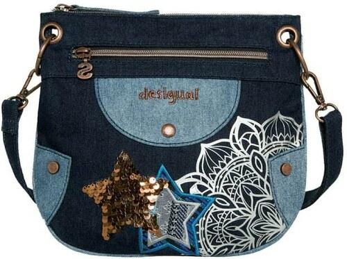 kabelka Desigual Denim jeans - Glami.sk 06a60d25fee
