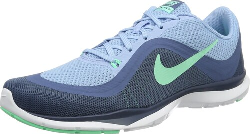 4f3f835e0c498e Nike Damen WMNS Flex Trainer 6 Turnschuhe Hallenschuhe Blau (Blaucap Grünes  Glühen Ozeannebel